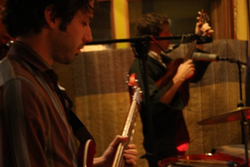 Loch Lomand recording their Luxury Wafers video at Kingsize Recording Studio
